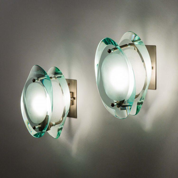 Pair of Sconces Model 2093 by Max Ingrand for Fontana Arte | soyun k.