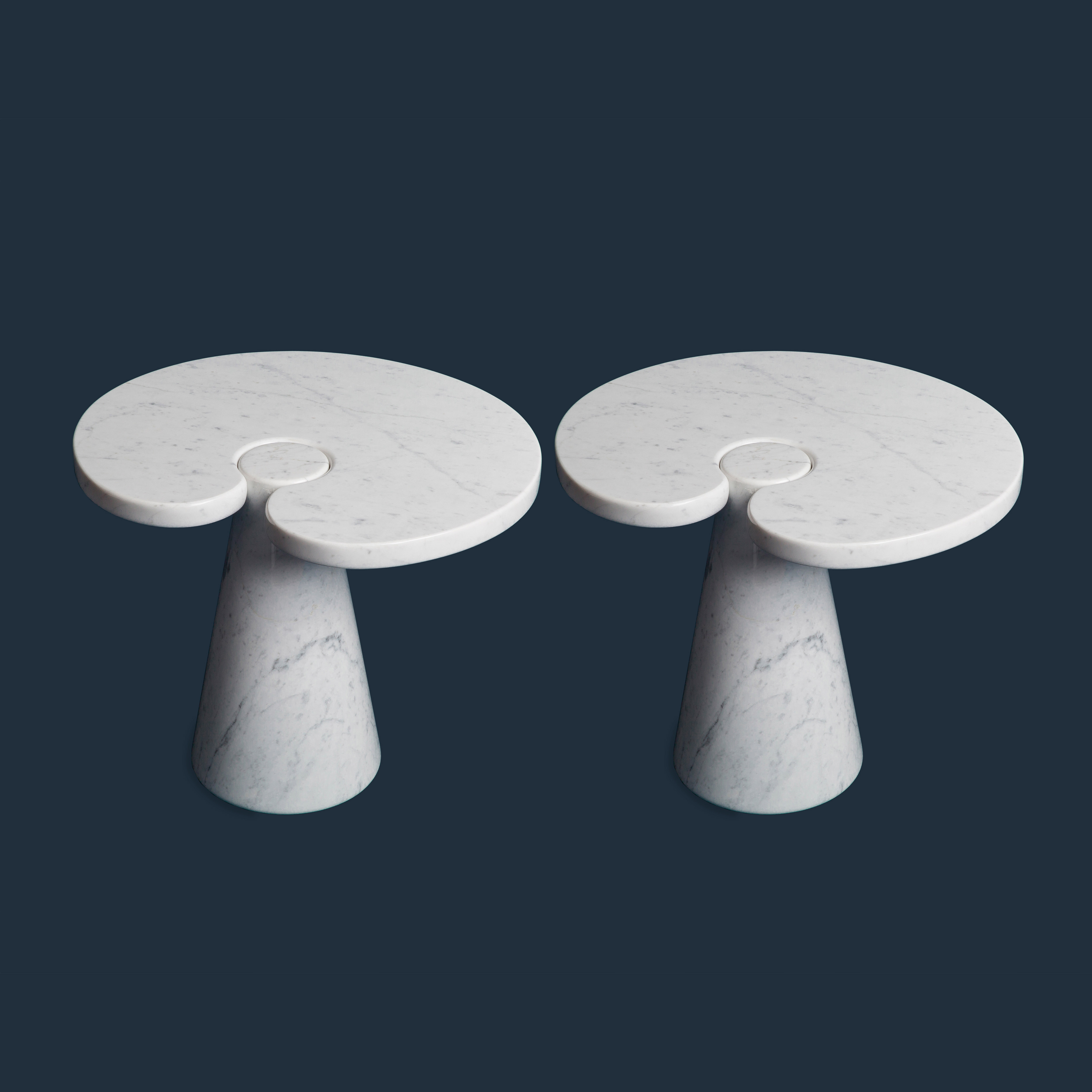 Pair of Side Tables from 'Eros' series, model P90 by Angelo Mangiarotti for Skipper   soyun k.