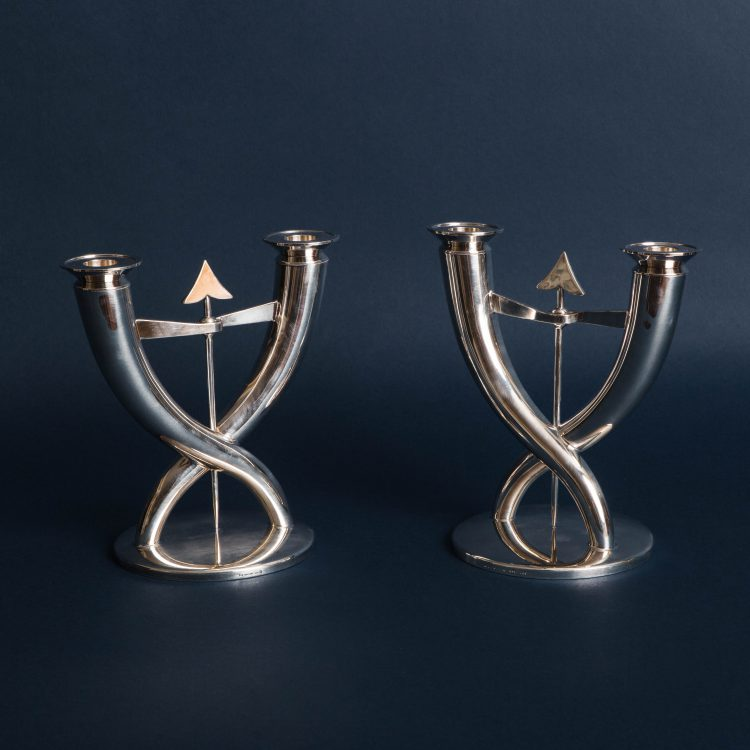 Pair of Flèche Candelabra by Gio Ponti for Christofle | soyun k.