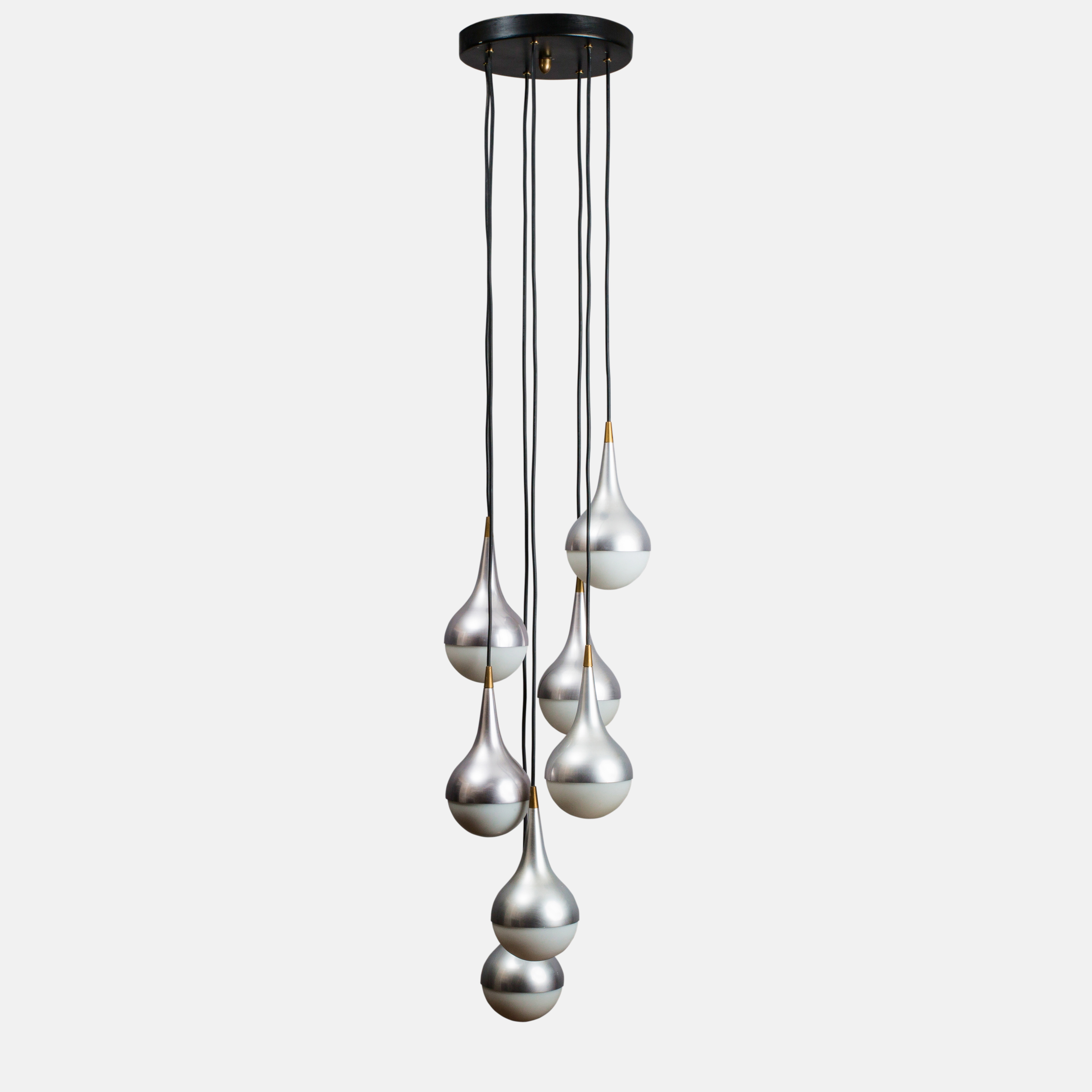 Rare Seven-light Chandelier by Stilnovo | soyun k.