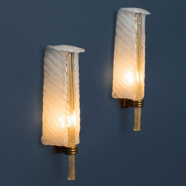 Set of Four Sconces, model 413 by Tomaso Buzzi for Venini | soyun k.