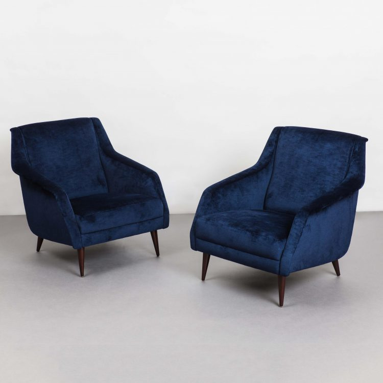Pair of Armchairs Model 802 by Carlo De Carli for Cassina | soyun k.