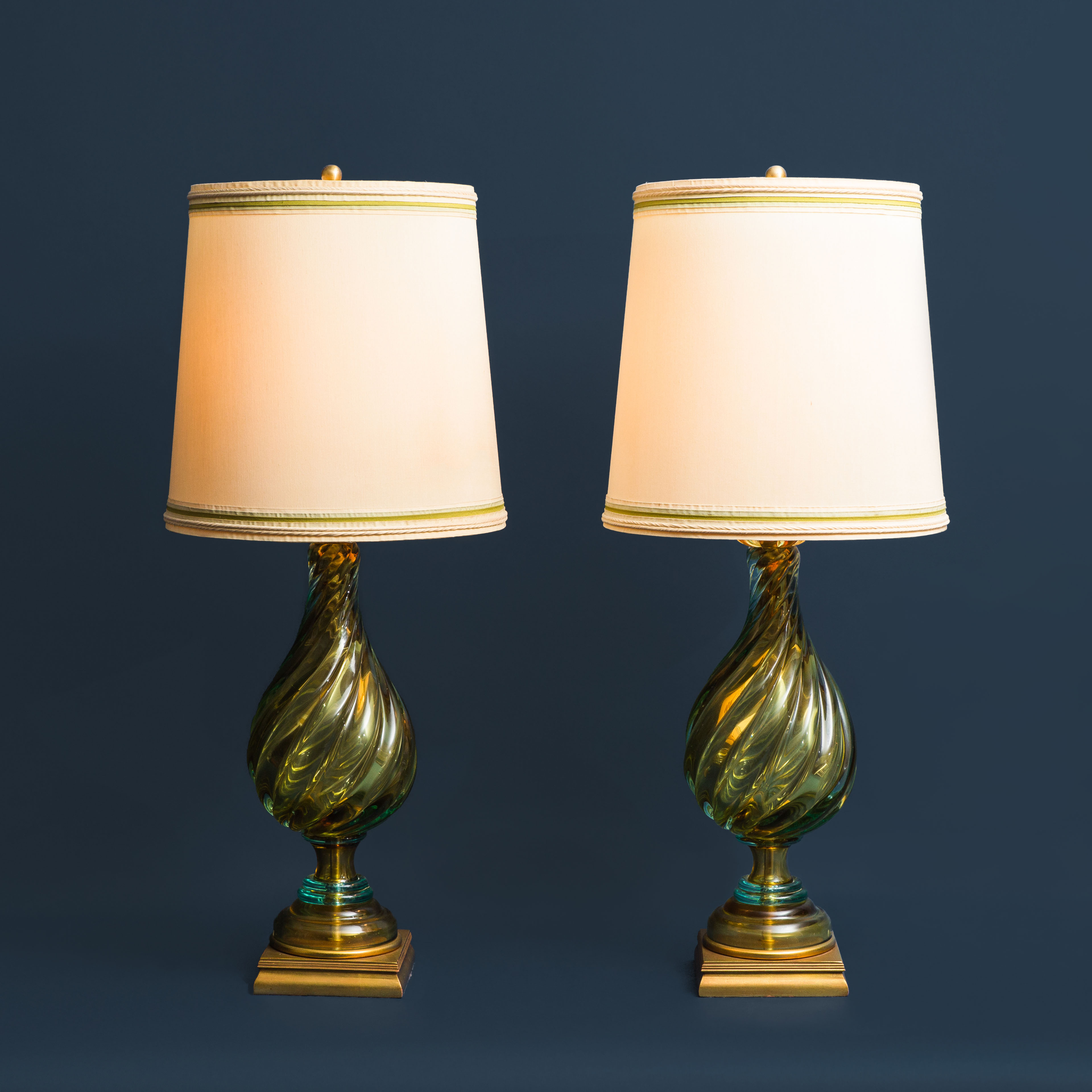 Pair of Table Lamps by Seguso for Marbro   soyun k.