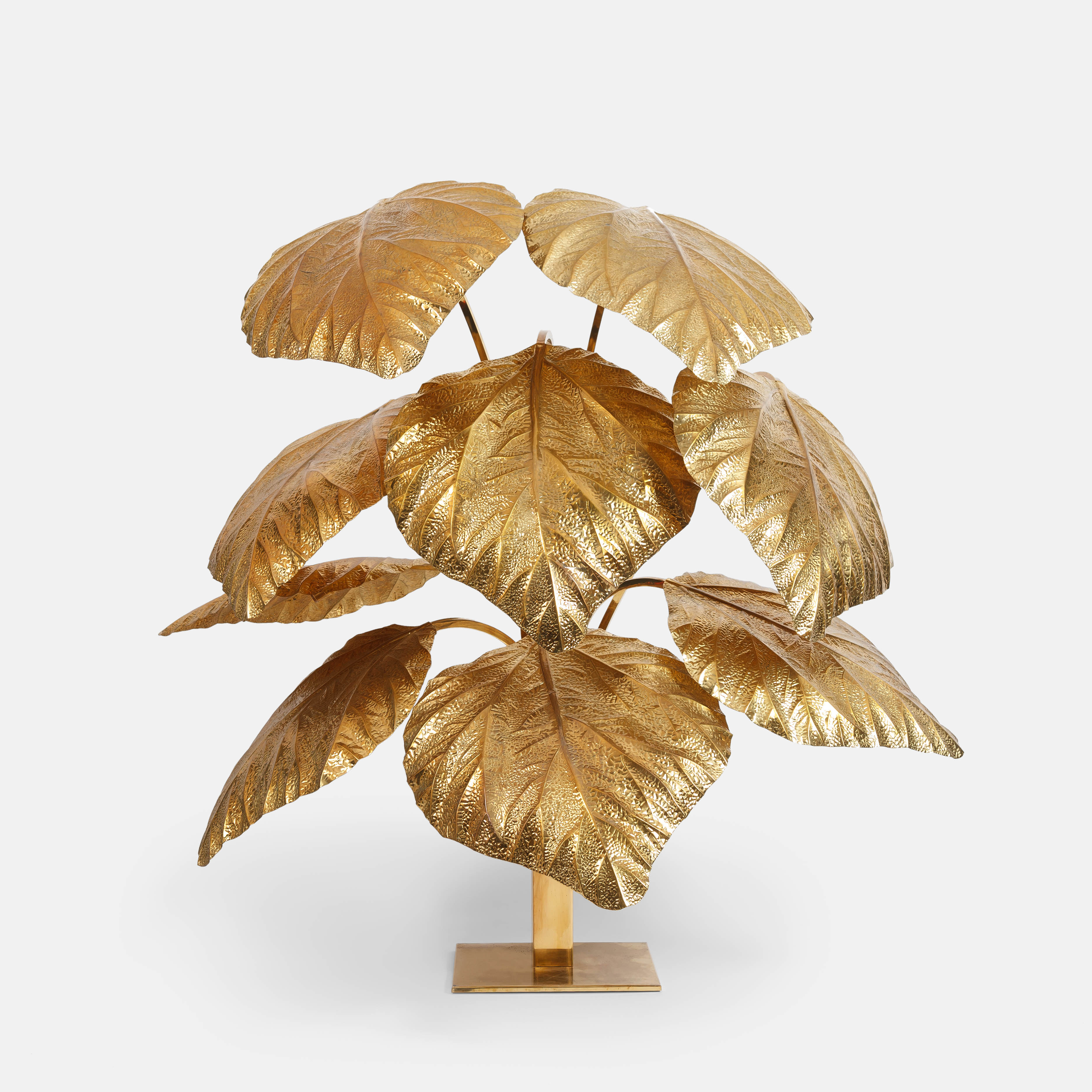9-leaf Rhubarb Floor Lamp by Carlo Giorgi for Bottega Gadda | soyun k.