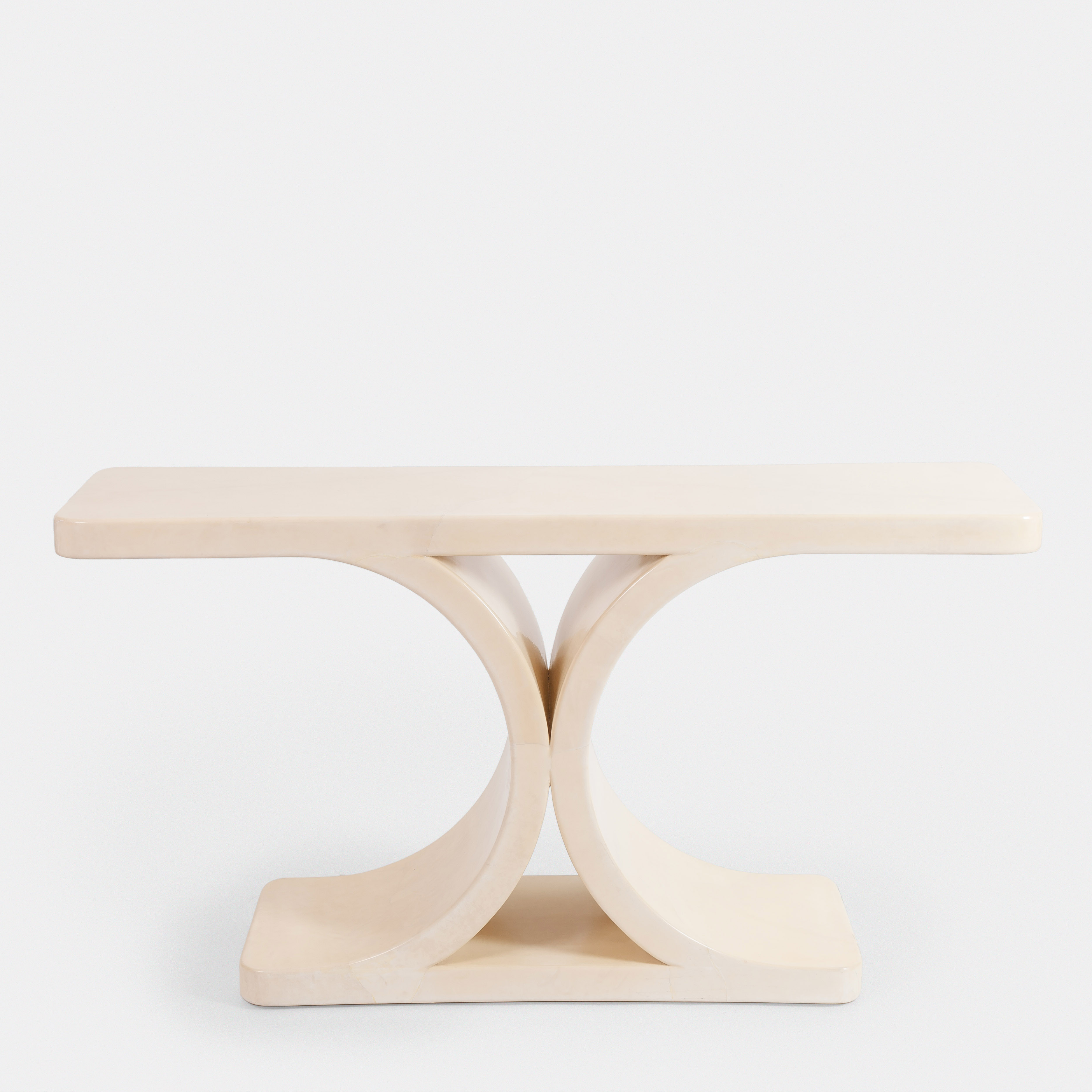 Lacquered Parchment Console by Karl Springer | soyun k.