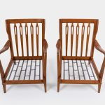 Pair of Walnut Armchairs Model 516 by Gio Ponti for Cassina   soyun k.
