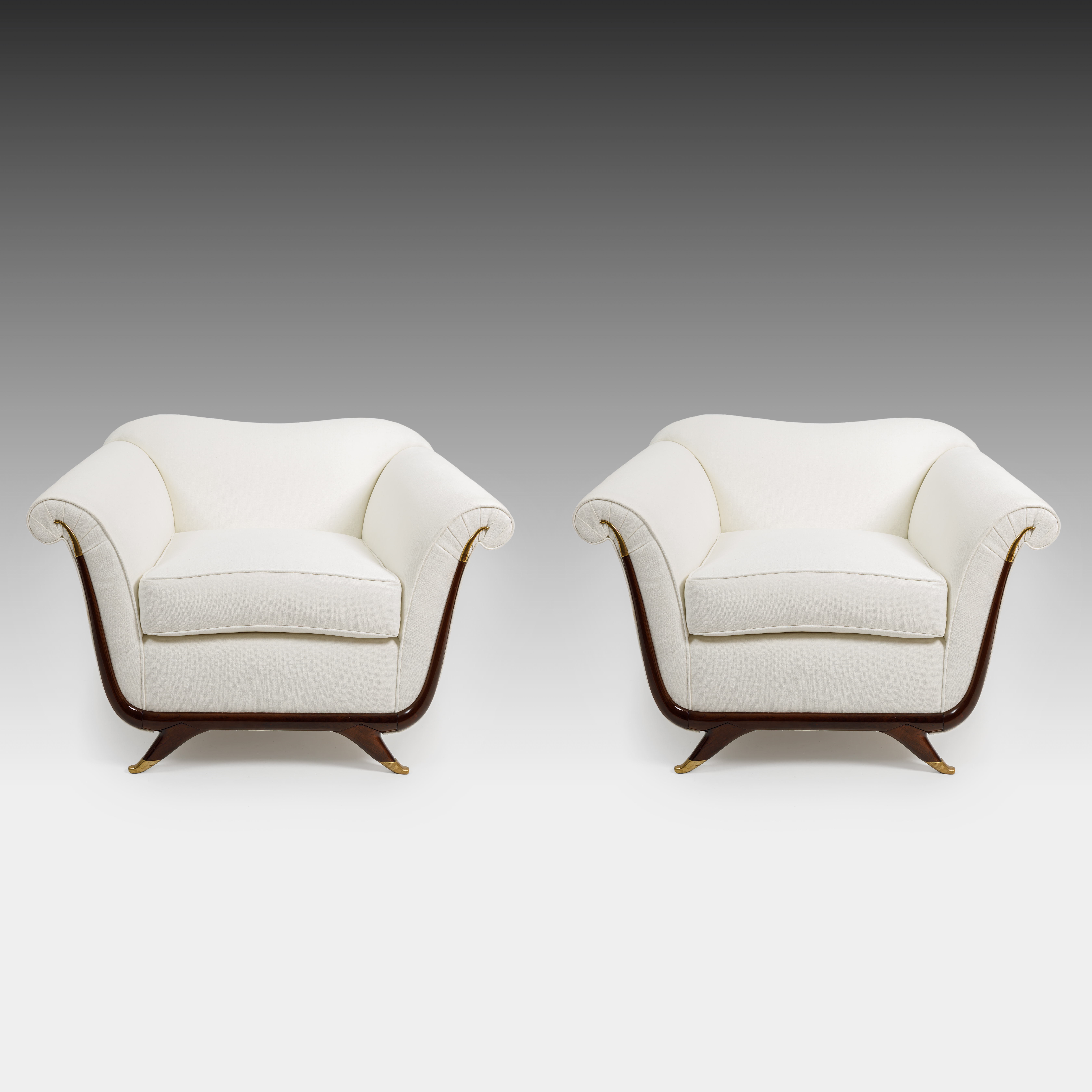 Pair of Armchairs by Guglielmo Ulrich, attributed to   soyun k.