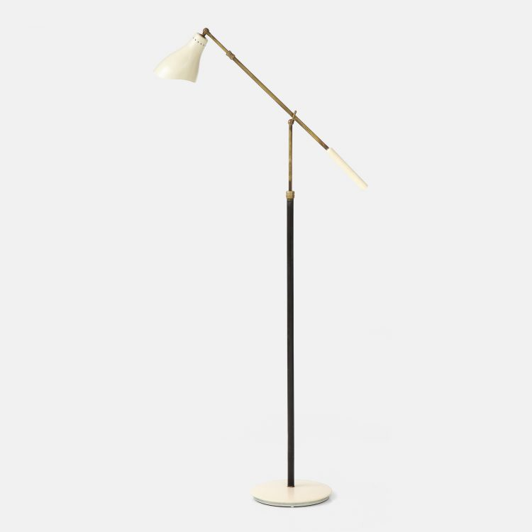 Rare Articulating Floor Lamp by Angelo Lelii for Arredoluce | soyun k.