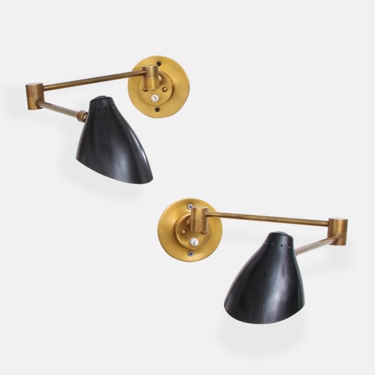 Pair of Articulating Sconces by Angelo Lelii for Arredoluce | soyun k.