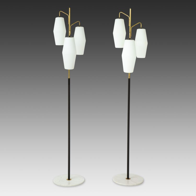 Pair of Floor Lamps Model 4052 by Stilnovo | soyun k.