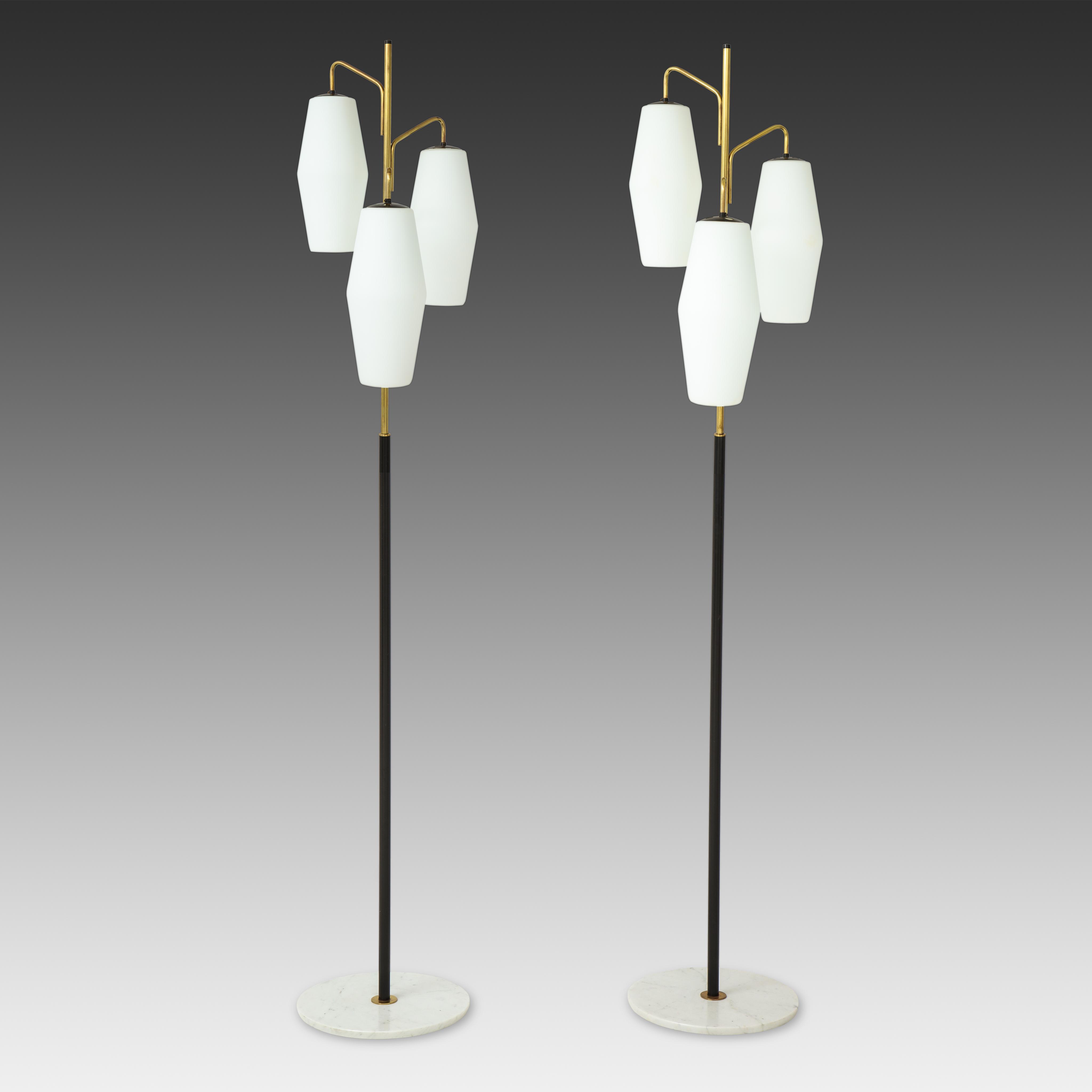 Pair of Floor Lamps Model 4052 by Stilnovo | soyun k.