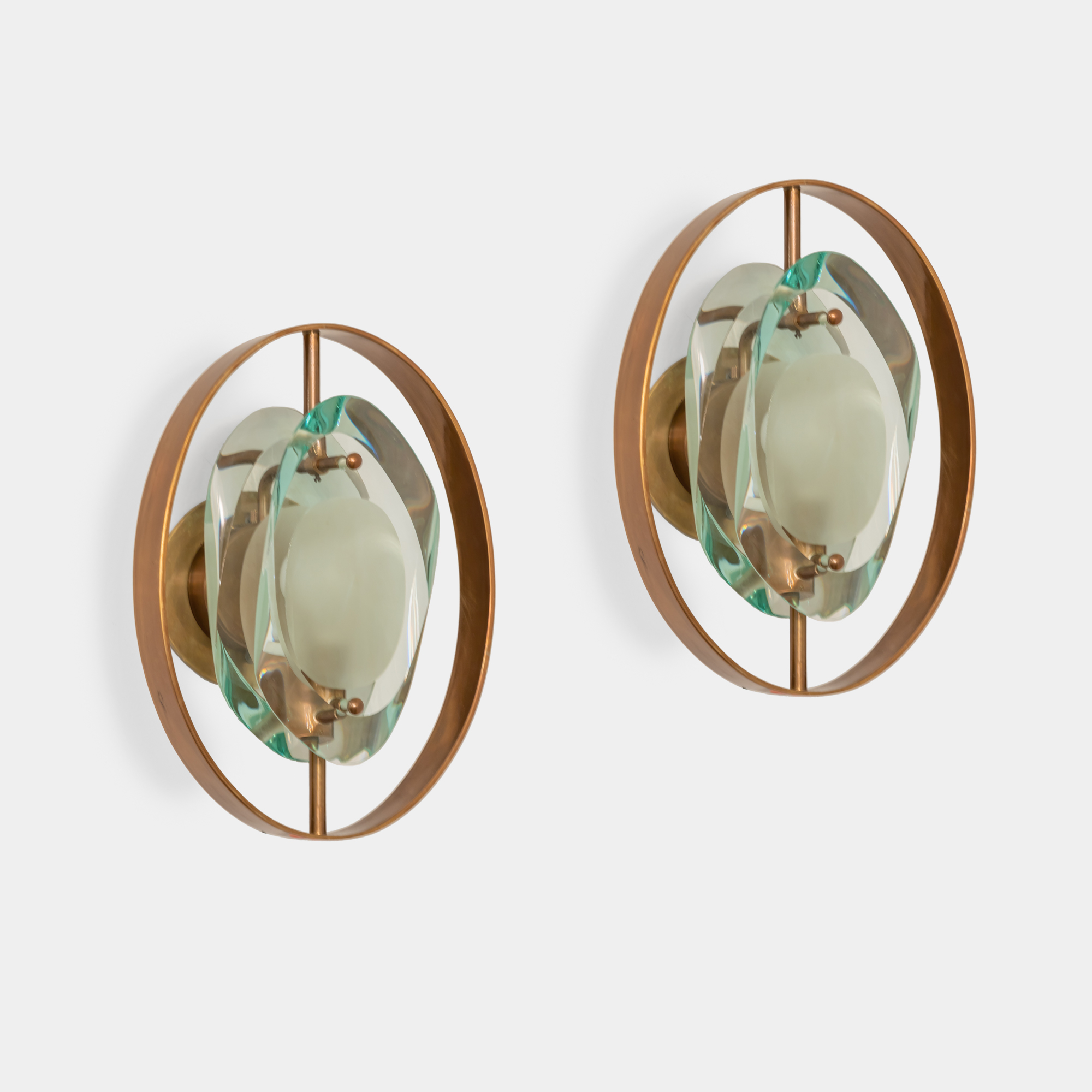 Rare Pair of 'Micro' Sconces Model 2240 by Max Ingrand for Fontana Arte | soyun k.