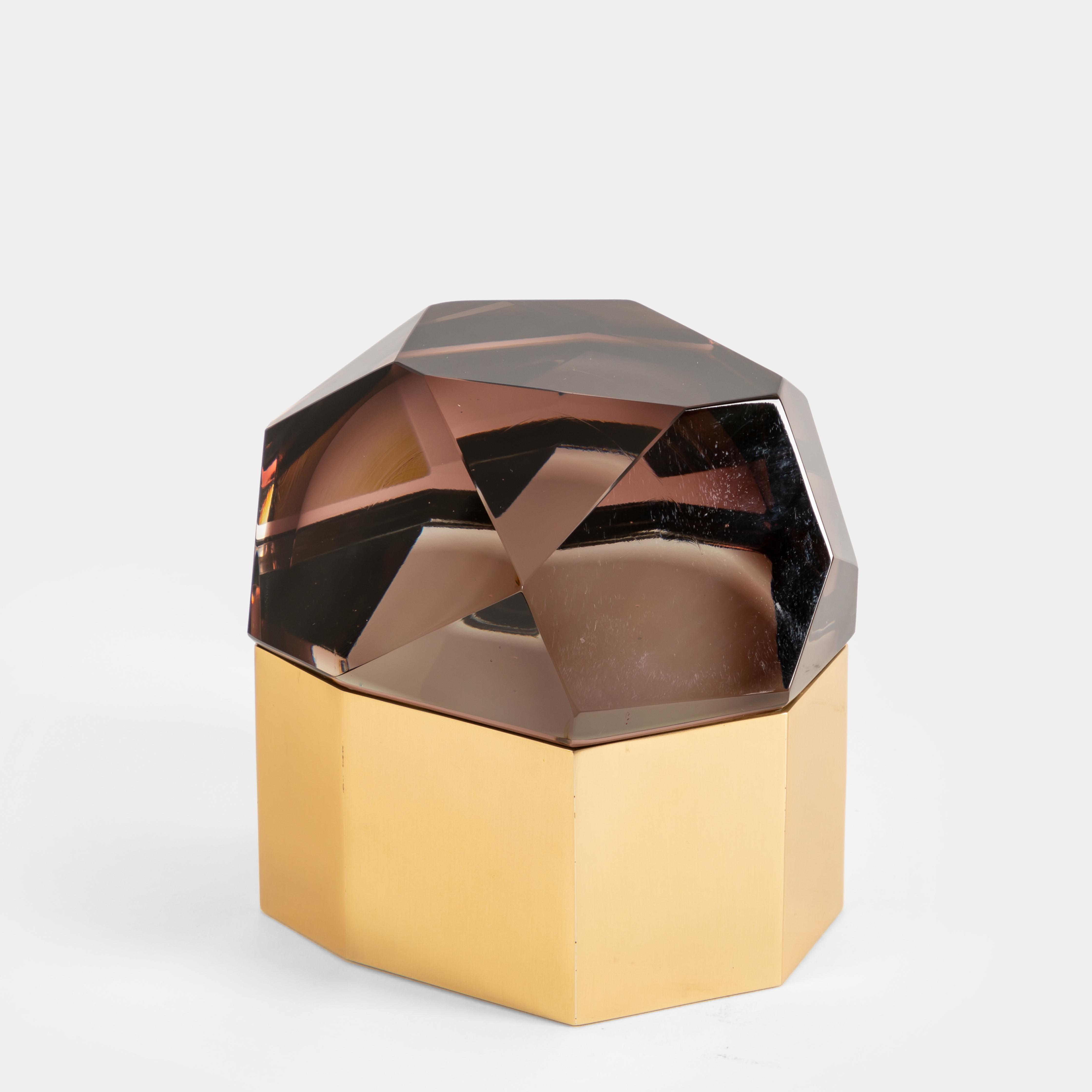 Amethyst 'Diamante Murano' Glass Box by Roberto Giulio Rida | soyun k.