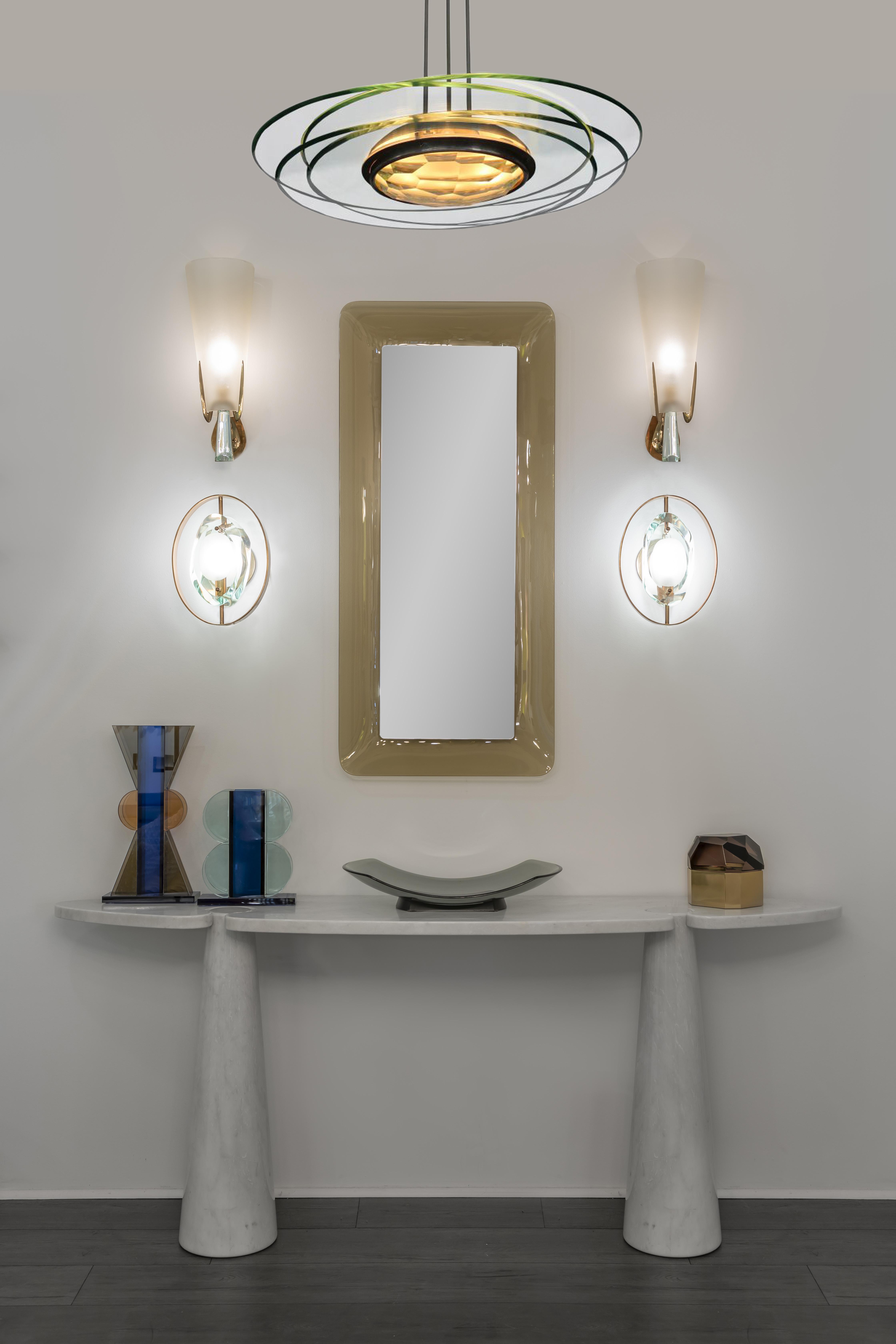 karen console mirror sconces vignette by  | soyun k.