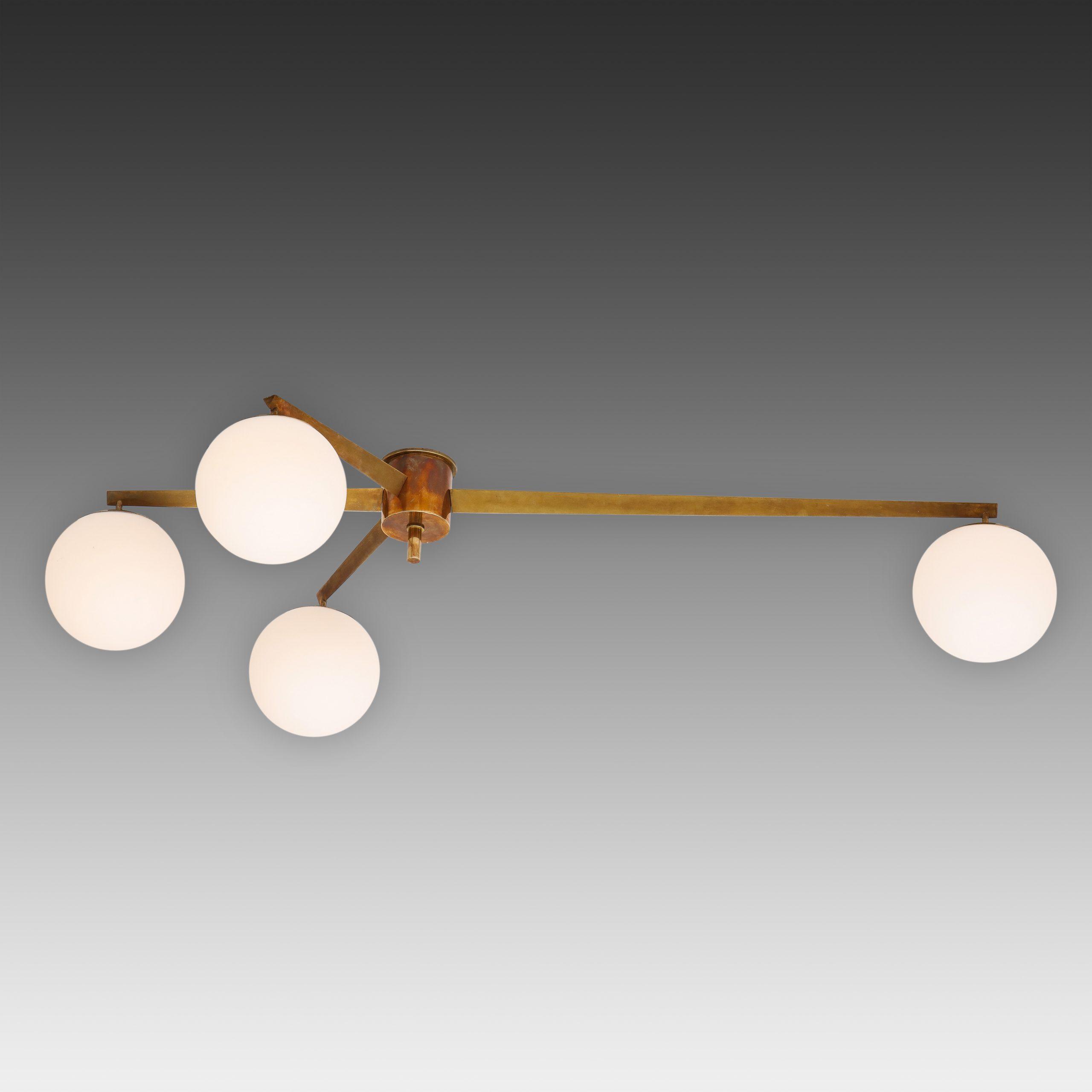 Stella Ceiling Light or Chandelier by Angelo Lelii for Arredoluce | soyun k.