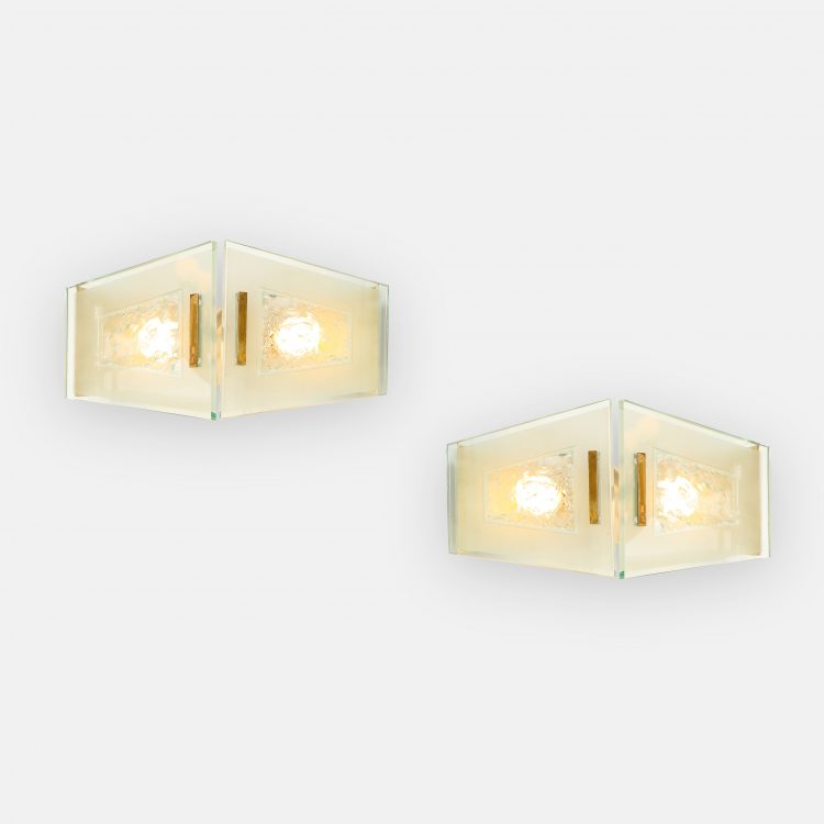 Rare Pair of Sconces by Max Ingrand for Fontana Arte | soyun k.