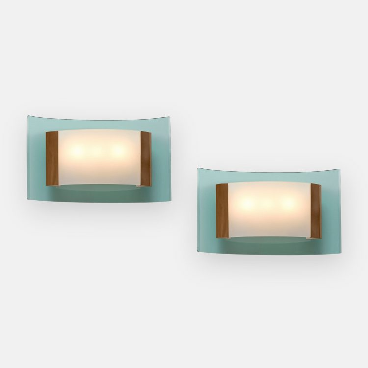 Rare Pair of Sconces Model 2213 by Max Ingrand for Fontana Arte | soyun k.