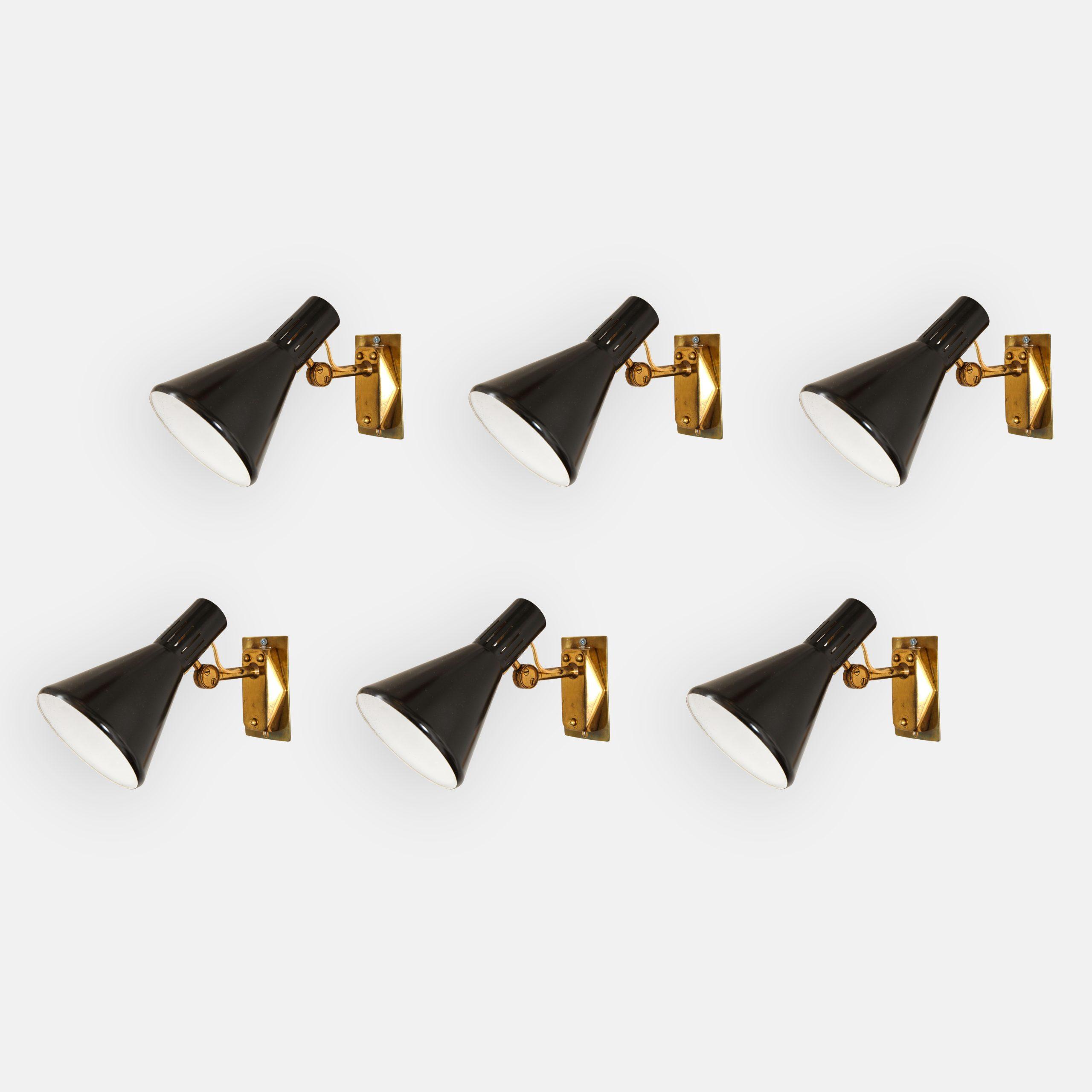 Set of Six Sconces Model 2086 by Stilnovo | soyun k.