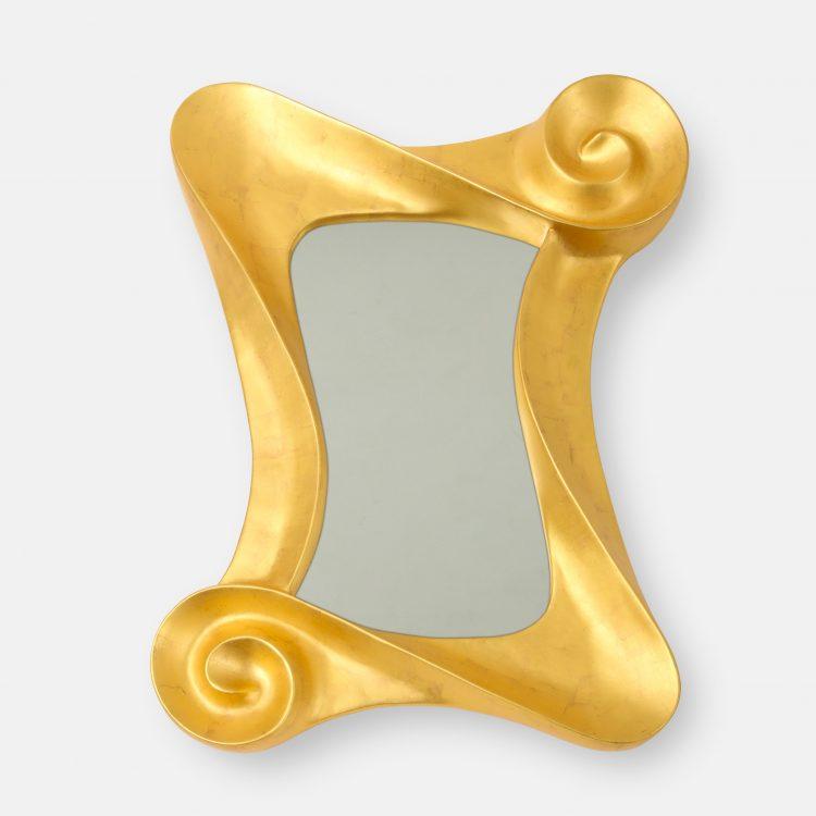 """Sonata in Gold"" 24 Karat Gold Leaf Mirror by Lawrence De Martino | soyun k."