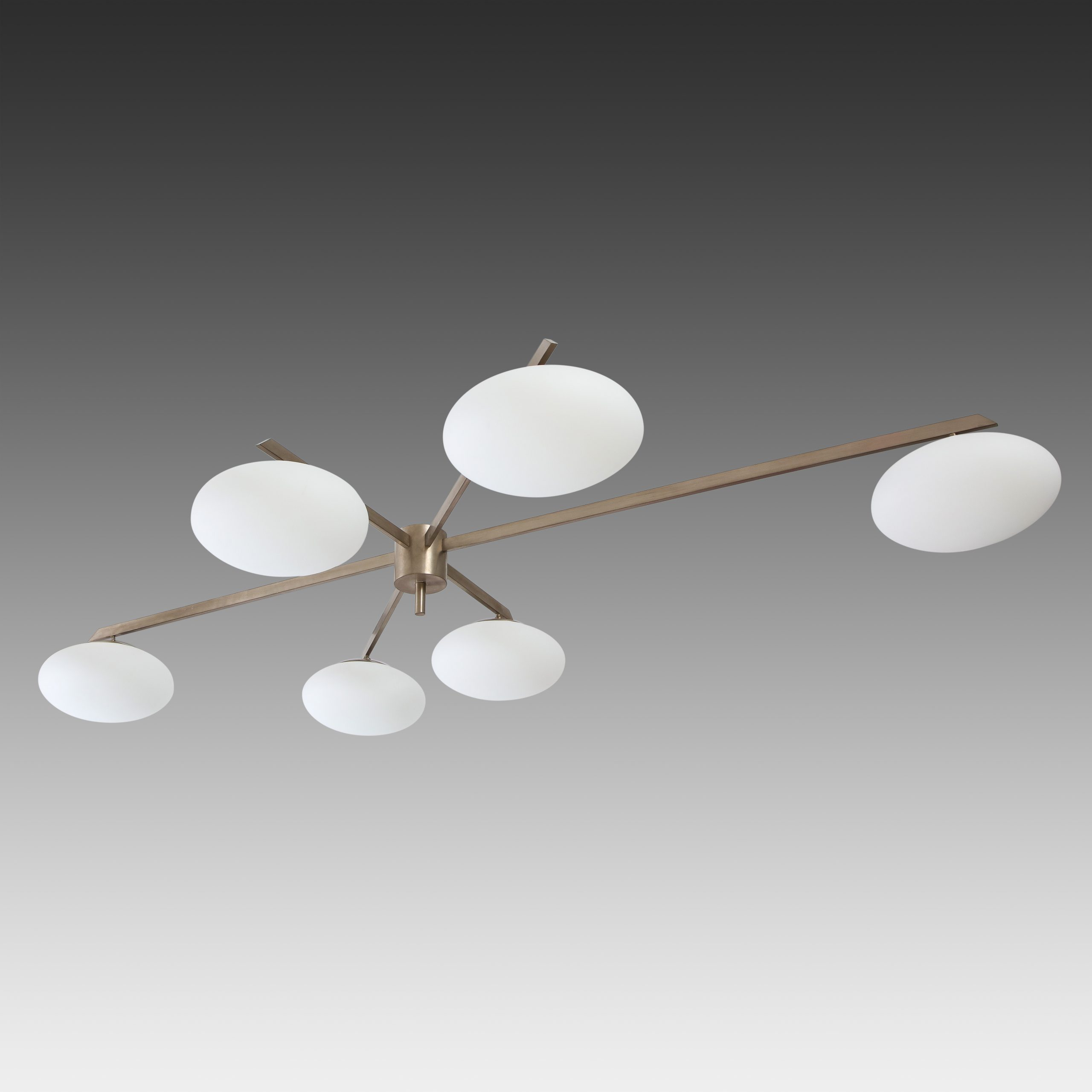 6 Lune Ceiling Light or Chandelier by Angelo Lelii for Arredoluce | soyun k.