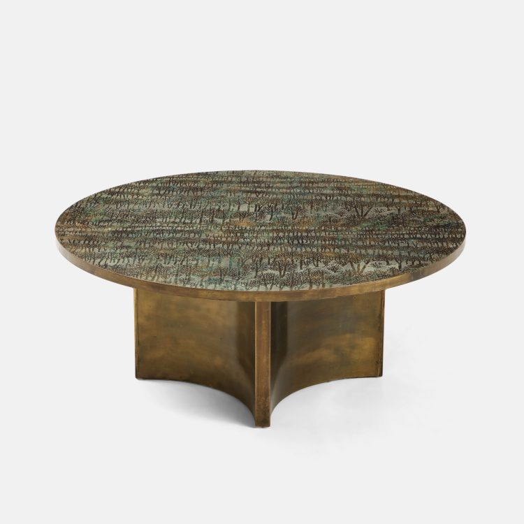 """Rare """"Eternal Forest"""" Coffee Table by Philip & Kelvin LaVerne 