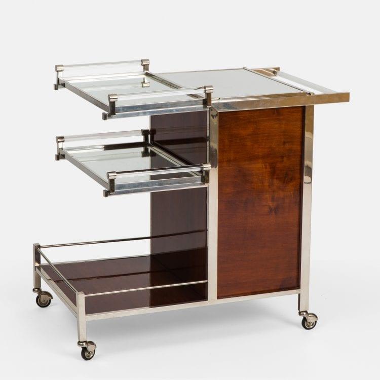 Art Deco Palissander Bar Cart by Jacques Adnet | soyun k.