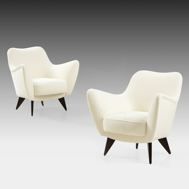 'Perla' Pair of Armchairs by Giulia Veronesi for I.S.A. Bergamo | soyun k.