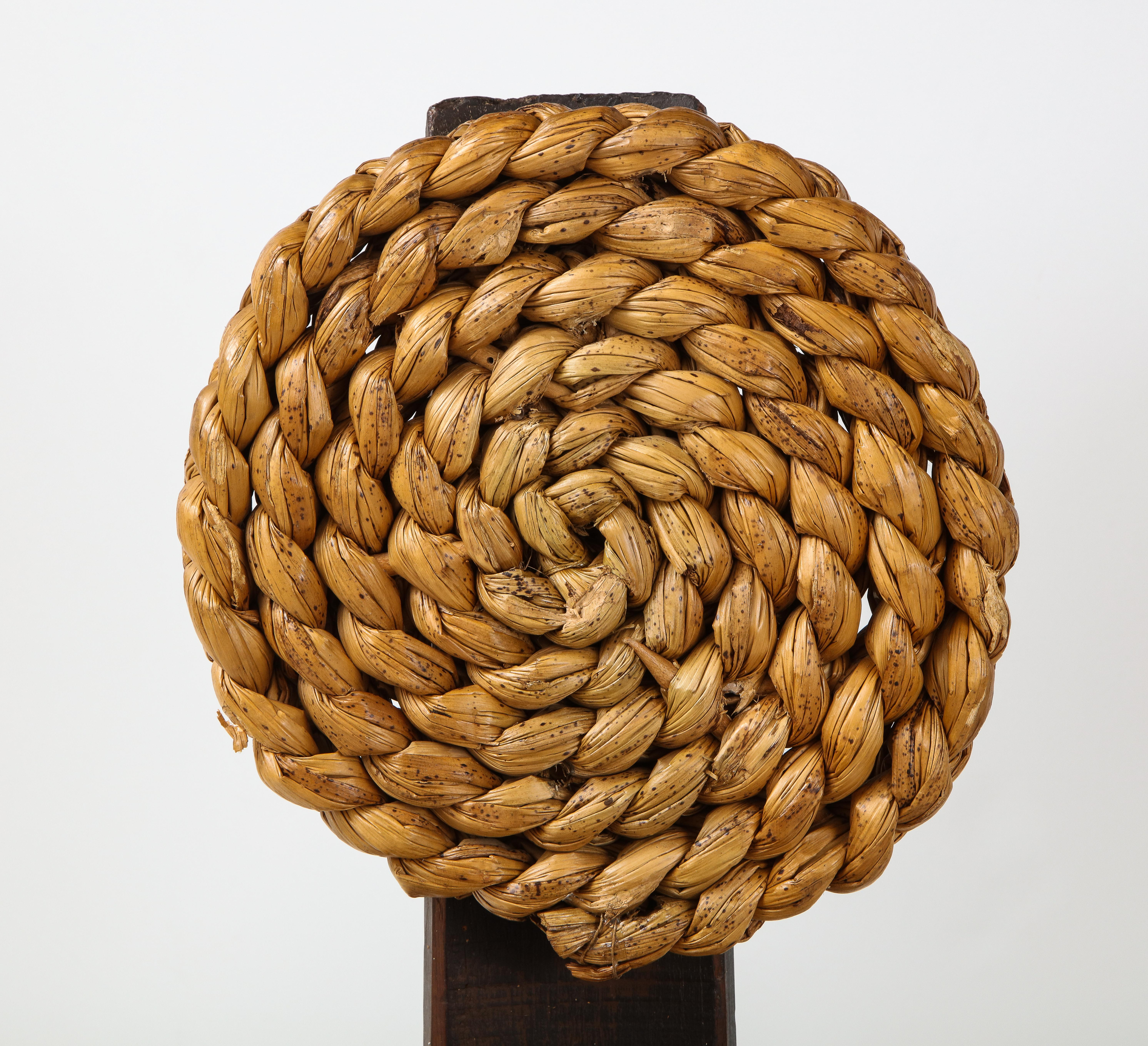 Pair of Rope and Wood Chairs by Adrien Audoux and Frida Minet   soyun k.