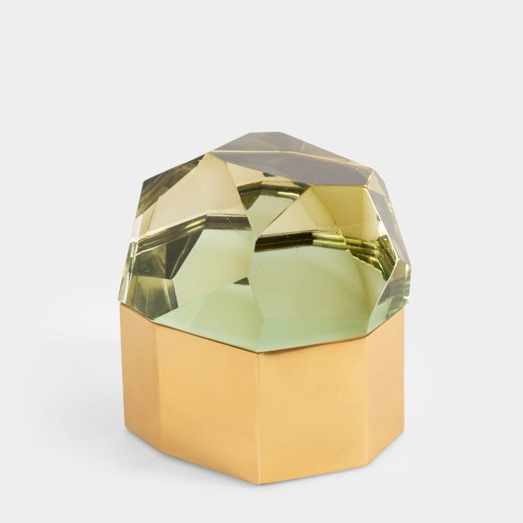 Chartreuse 'Diamante Murano' Glass Box by Roberto Giulio Rida | soyun k.