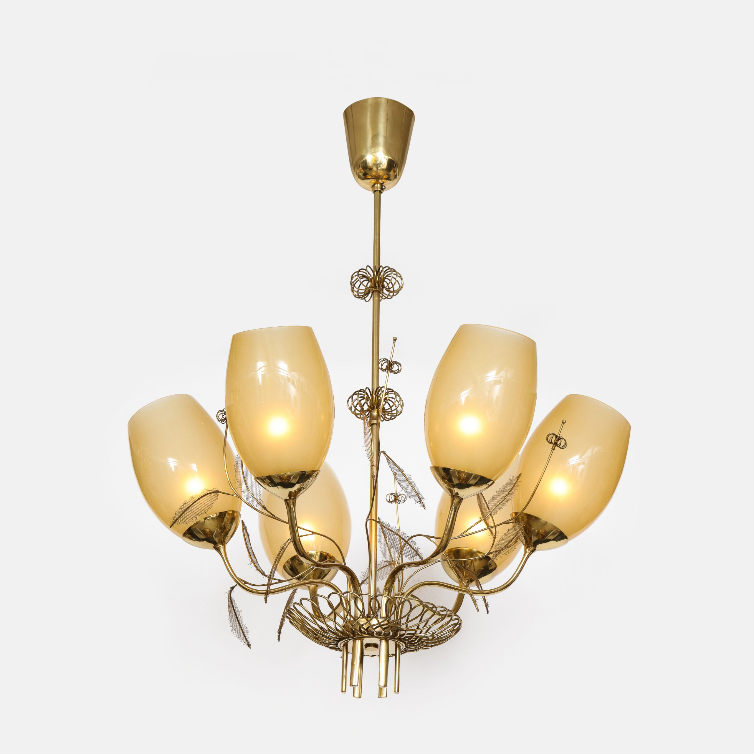 Chandelier Model 9029/6 by Paavo Tynell for Taito Oy   soyun k.