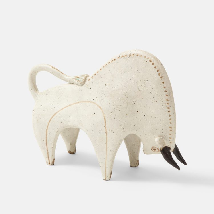 Ceramic Bull Sculpture by Bruno Gambone | soyun k.