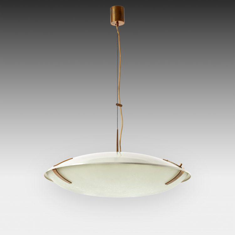 Pendant Light Model 1140 in Aluminum, Brass and Glass by Stilnovo | soyun k.