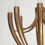 Brass Eight-Arm Chandelier by Guglielmo Ulrich   soyun k.